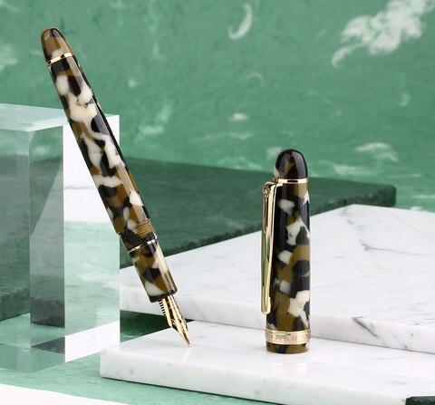 caneta de tinta dot resina verde iridium belas
