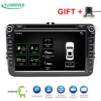 2 DIn Car DVD Player 8 HD For VW POLO GTI GOLF 5 6 MK5 MK6