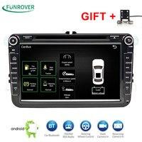 2 DIn Auto Dvd-speler 8' HD Voor VW POLO GTI GOLF 5 6 MK5 MK6 JETTA PASSAT B6 Touran Sharan Met GPS Navigatie Radio RDS