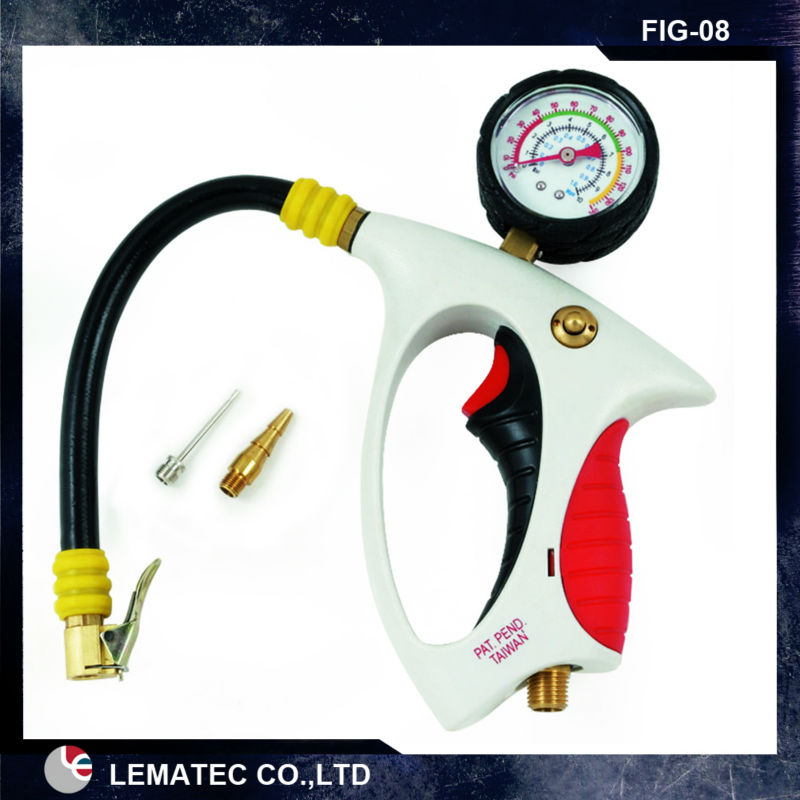 ФОТО Ergonomic Tire Inflating Gun with tire pressure gauge Taiwan Made high quality tire inflator