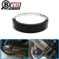 Motorcycle Accessories Oval Exhaust Protector Can Cover Fits For Yamaha T MAX T Max 500 2002