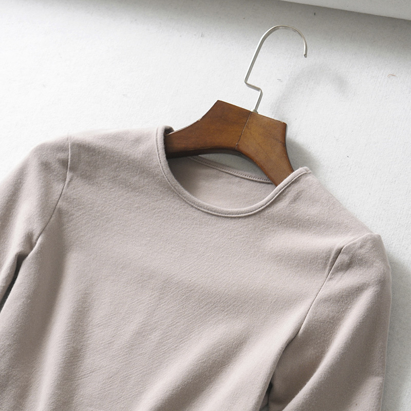 HTB16gzzaoLrK1Rjy0Fjq6zYXFXal - BRADELY MICHELLE crop tops for women Sexy female pure cotton o-neck half-length sleeve solid elasticity shirt