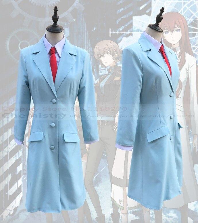 Free shipping Steins Gate 0 Kurisu Makise Cosplay Costume