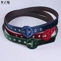 Nueva chica de moda cinturón de tela de terciopelo capa joker merecen actuar el papel de la cintura decoración de la cintura cinturón de piel con piel V476