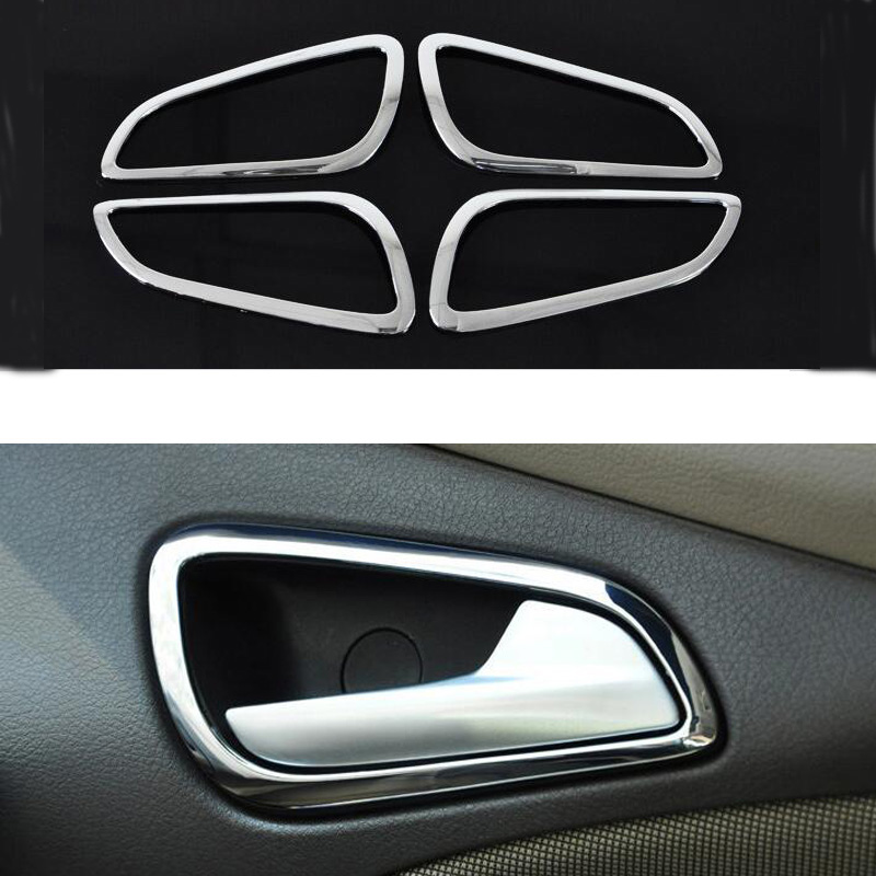 stainless steel car Door handle cover Cup Bowl sticker for Ford New Focus 2012 Wholesale