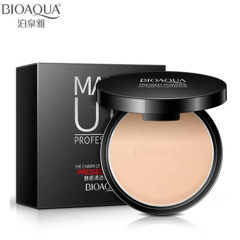 BIOAQUA Brand Face Base Mineralpressad Powder Makeup Matte Smooth Concealer Control Oil Foundation Kontur Make Up Cosmetics