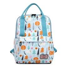 Cartoon Flowers Print Backpacks Women Rucksack Stylish School Bag Teenagers Daypacks Small Backpacks Casual Travel Bags 2019 New