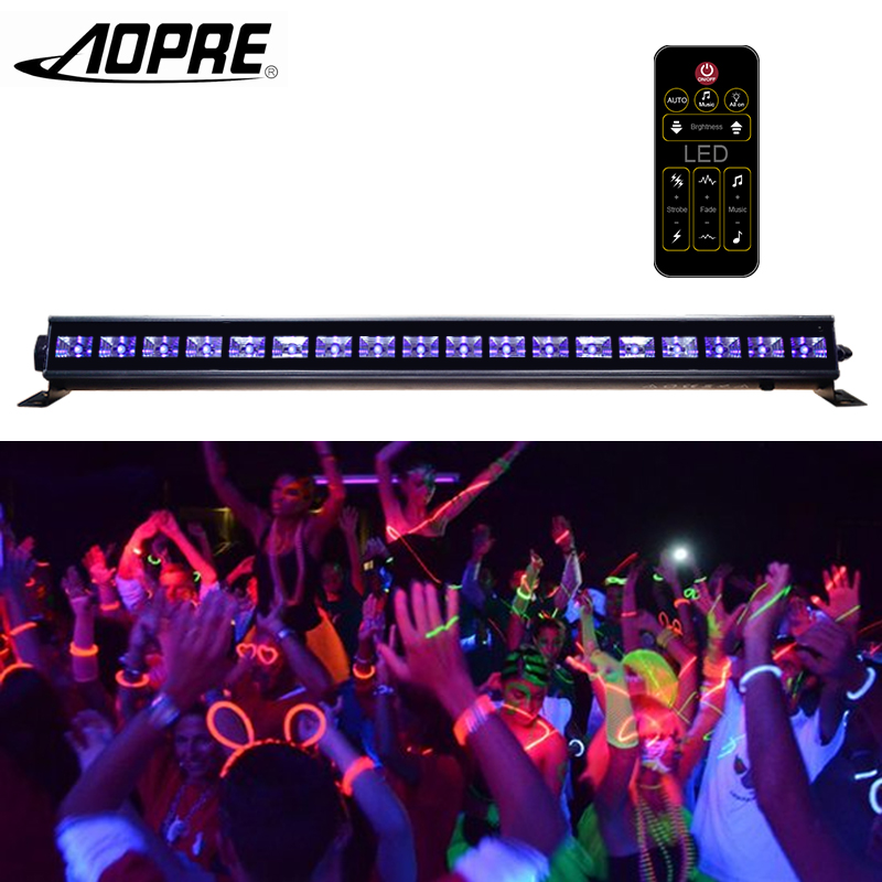 AOPRE UV LED Bar Wall Washer Lamp Purple LED UV Club Light For Party Disco Show Stage Lighting Effect Lights with Remote Control 2017 hot led display space isolator recharge base remote control uv lamp vacuum cleaners