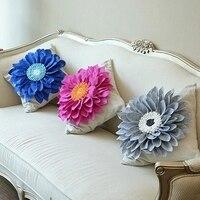 Fashion sofa decoration three dimensional flower pillow cushion bed decoration pillow cushion