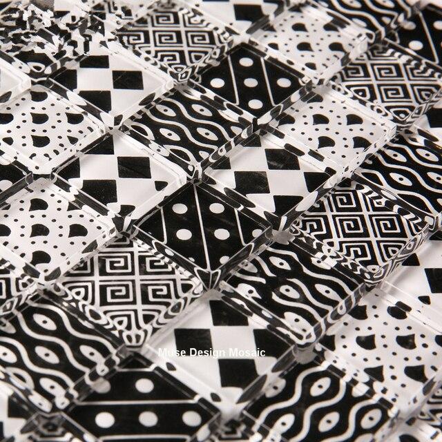 Marokko Schwarz Weiß Kunst Kristall Glas Mosaik Fliesen Küche - Mosaik fliesen marokko