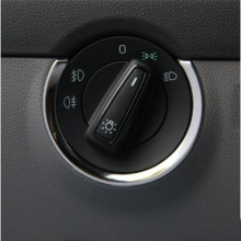 Накладка из нержавеющей стали для автомобиля, переключатель фар с блестками, декоративная крышка, наклейка для VW skoda octavia A7,,, аксессуары
