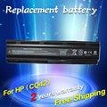 Bateria para hp pavilion dv3 dm4 jigu dv5 dv6 dv7 g4 g6 g7 para compaq presario cq42 cq32 g62 g72 g42 mu06 mu09xl 593553-001