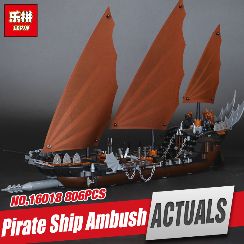 Lepin 16018 Genuine New The lord of rings Series The Ghost Pirate Ship Set Educational Building Block Brick Toys Gifts 79008 lepin movie series ghost pirate ship 16018 756pcs building block for children toys 79008 compatible legoe pirate ship