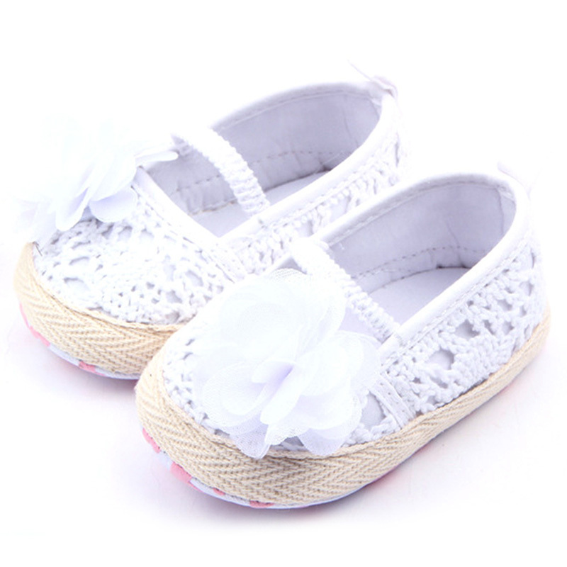 Baby Girls Flower Princess Knittng Crocheted Crib Shoes Infant Toddler Prewalker Best