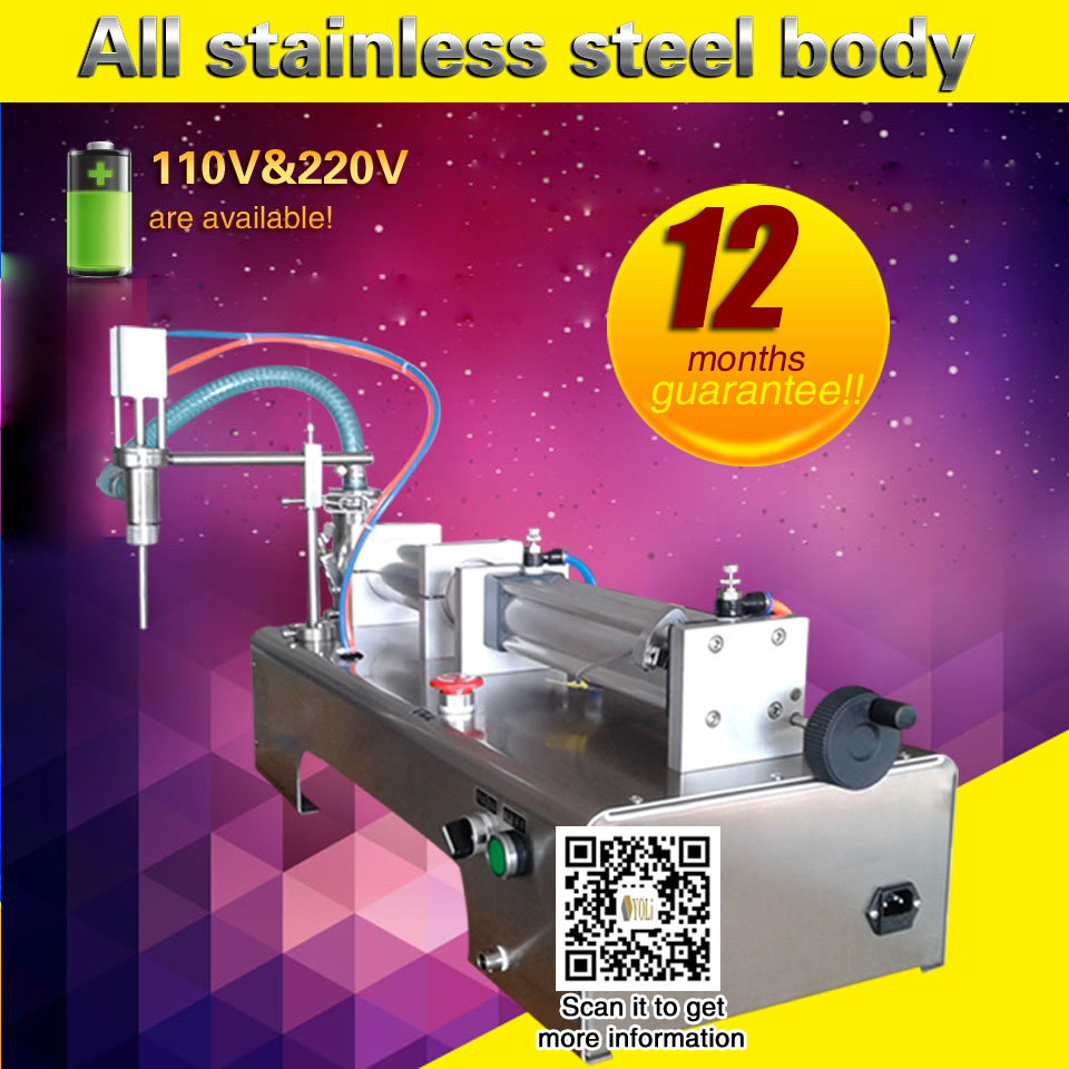 Can Filling Machine Semi-automatic Pneumatic Piston Filling Liquid Filling Machine  Bottle Filling Machine For Sale