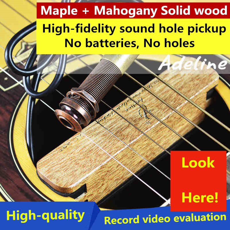 Classical Steel-String Acoustic Guitar Sound Hole Pickups Solid Wood High-fidelity Sound No Battery No Noise Piezo Guitarra savarez 510 cantiga series alliance cantiga normal high tension classical guitar strings full set 510arj