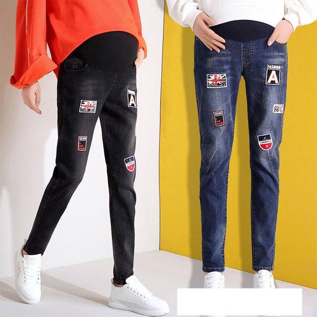 US $18.82 17% OFF Autumn Maternity Clothes Pants Cotton Belly Trousers for  Pregnancy Women Denim Plus Size Maternity Pants L,XL,XXL,3XL,4XL,5XL-in ...