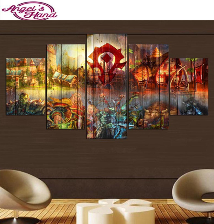 3d Full Diamond embroidery for baby room Game Character 5d diy diamond painting round/square Pictures rhinestones Mosaic diamond