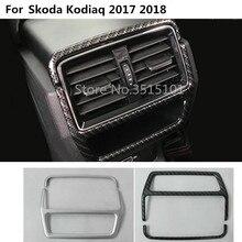 Auto interno contorno copertura trim posteriore della parte posteriore di coda a testa in condizione di Aria condizionata Presa di Sfiato 2 pz Per Skoda kodiaq 2017 2018 2019