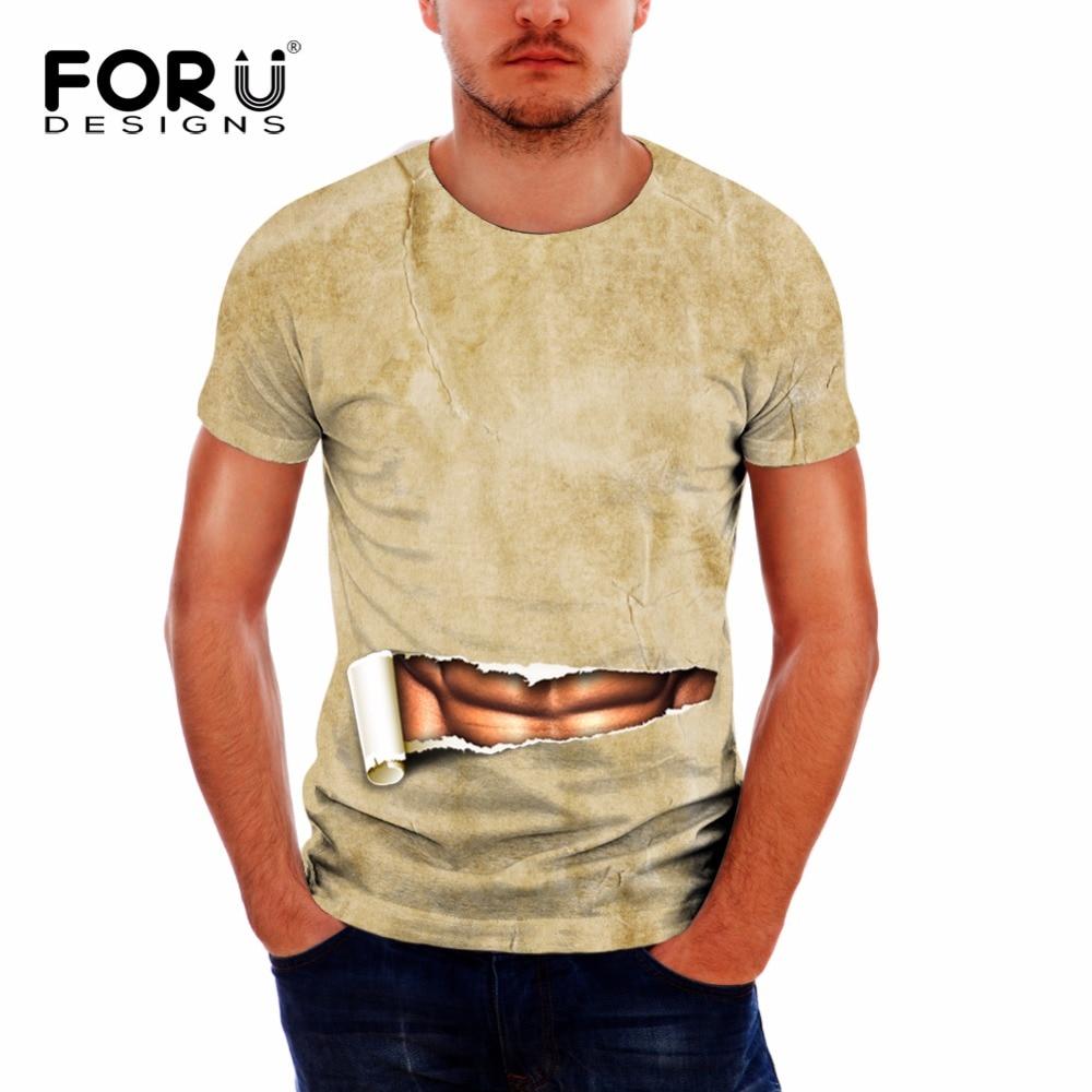 dd1e4fba73f4e FORUDESIGNS الجدة الذكور 3D العضلات مطبوعة تي شيرت قصير الصيف تنفس اللياقة  البدنية T قميص للرجال دنة محب تيز Camiseta