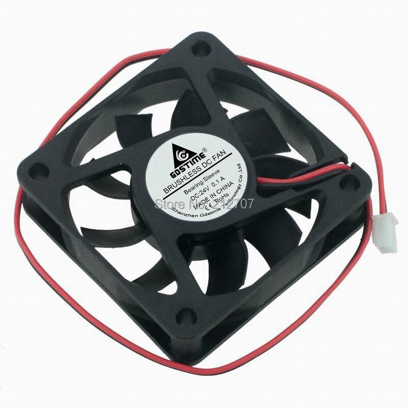 1pcs Gdstime 6015 24V 2Pin DC Cooling Cooler Fan 6cm 60mm 60x60x15mm1pcs Gdstime 6015 24V 2Pin DC Cooling Cooler Fan 6cm 60mm 60x60x15mm