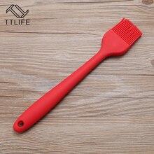 TTLIFE 1 шт. многофункциональная силиконовая щетка для выпечки, для барбекю, масляная щетка, для приготовления пищи, инструменты для выпечки, кухонные аксессуары, гаджеты, случайный цвет