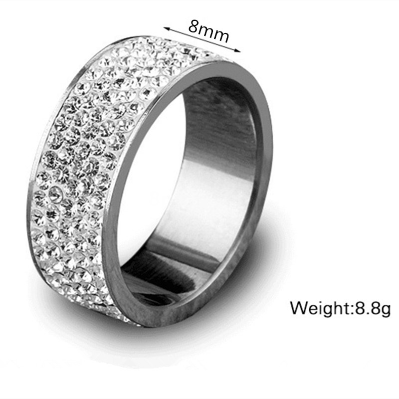Fashion Stainless Steel Jewelry Silver Star of Hope JEWURA Couple Love Ring