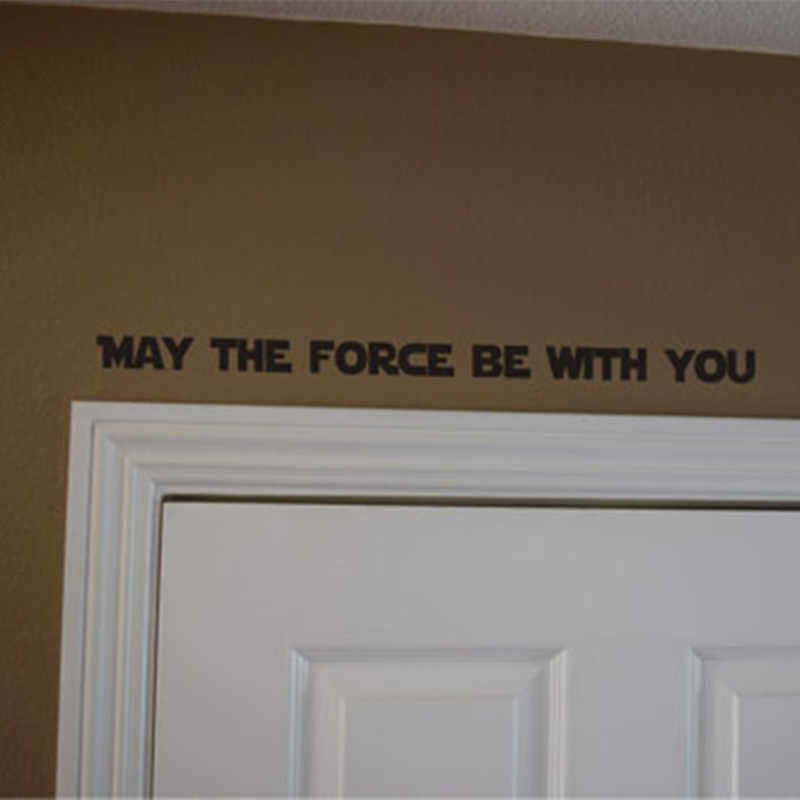 Star Wars peut être la Force avec vous décalcomanie autocollant de porte décalcomanie citation inspirante décalcomanie vinyle décor mural art K012
