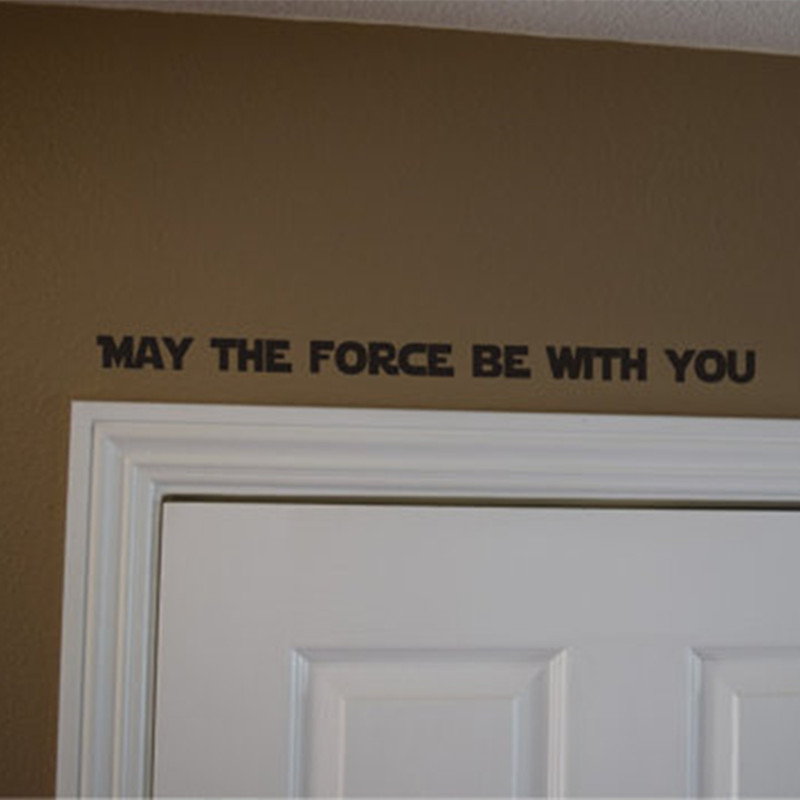 Star Wars May the Force be with you decal decal door sticker decal Inspirational quote decal vinyl wall decor art K012