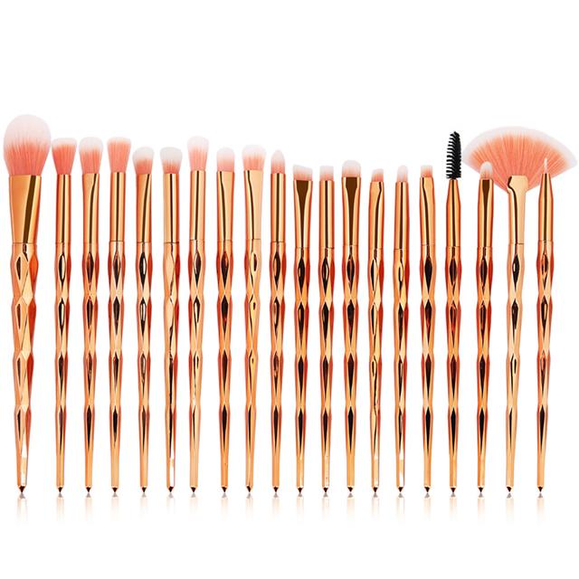 SinSo Makeup Brushes Tool Set 10-20pcs Unicorn Make up Brushes Powder Eyeshadow Foundation Lip Diamond Cosmetic Makeup Brush Kit