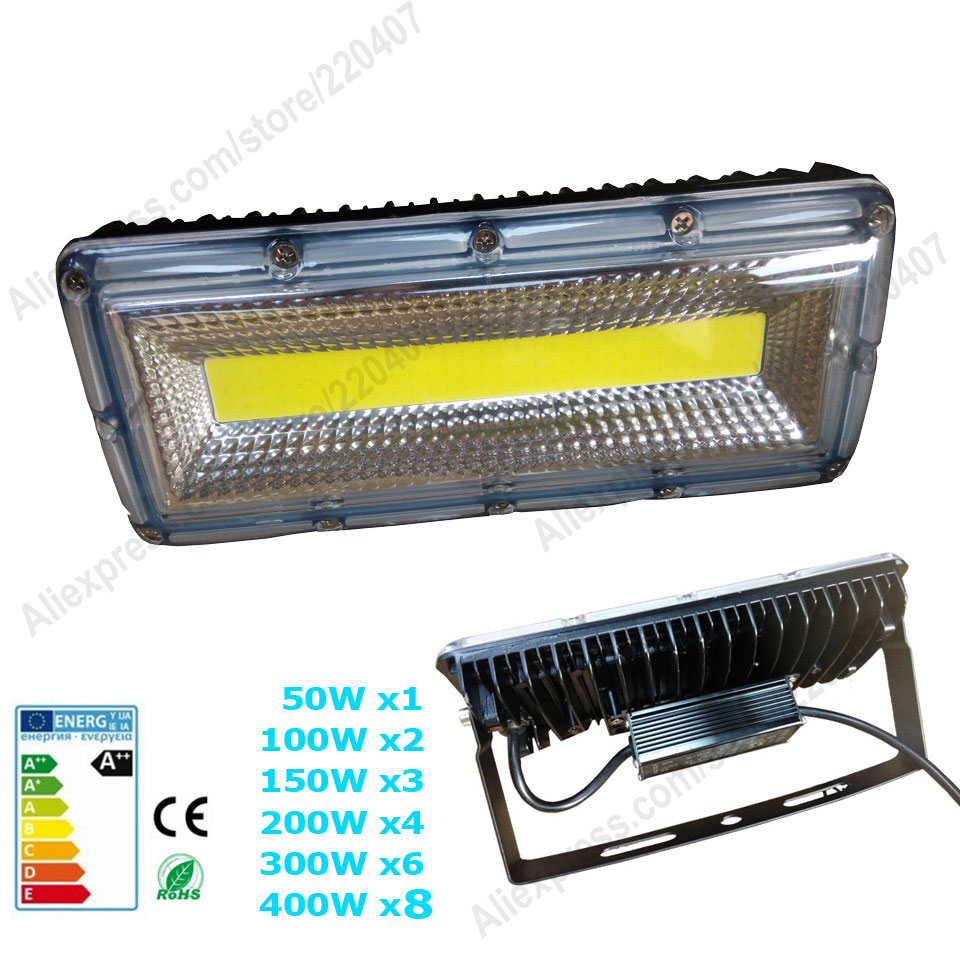AC85-265V LED flood light 50W 100W 150W 200W 300W 400W SMD COB Chips Epistar Floodlight Landscape LED IP65 waterproof light lamp