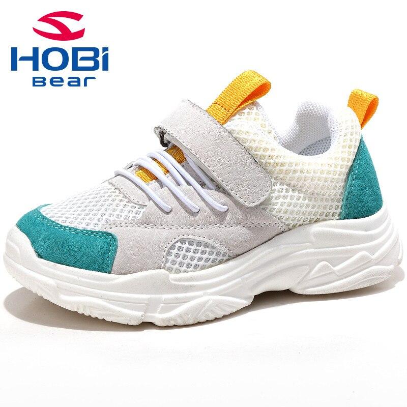 Kids Sneakers for Girls Boys Breathable Sports Mesh Slip On Basket Tennis Training Shoes for Children Footwear Hobibear GU3582