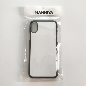 Image 4 - MANNIYA for iphone X XS Blank Sublimation TPU+PC rubber phone Case with Aluminum inserts and tape  10pcs/lot