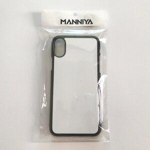 Image 5 - MANNIYA per iphone 11/11 Pro/11 Pro Max Sublimazione in bianco TPU + PC di gomma Cassa del telefono bianco con inserti In Alluminio 100 pz/lotto