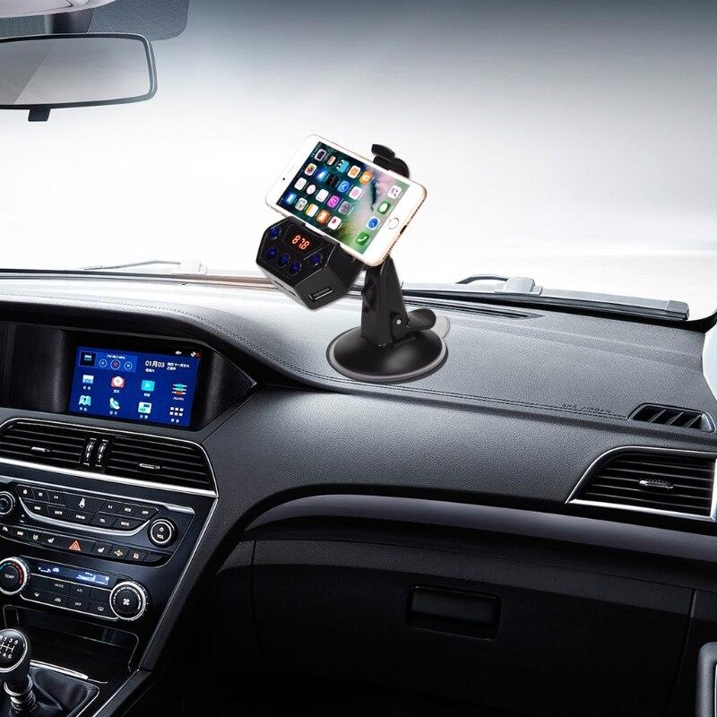 Car MP3 Audio Player Bluetooth FM Transmitter Wireless Modulator Car Kit Hands Free <font><b>Phone</b></font> <font><b>Holder</b></font> 360 degree rotation LCD display