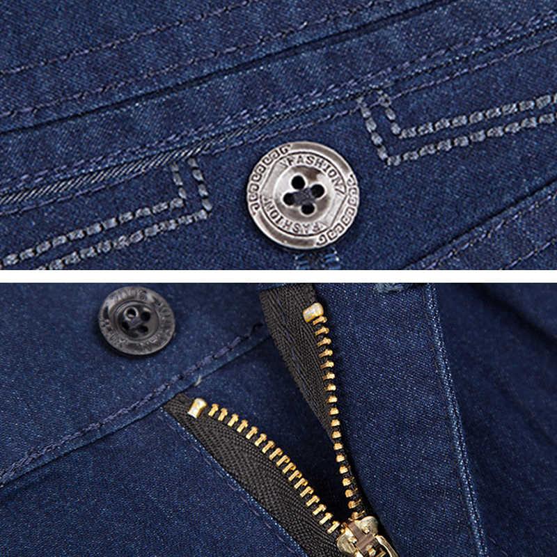 Holyrising мужские брюки повседневные джинсы Уличная Высокая талия брюки эластичные ropa de hombre тонкая мужская одежда размер 30-42 18681-5
