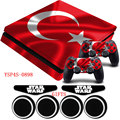 Turkey National Flag Sticker PS4 Slim Vinyl Anti-slip Skin Decal &2xController Stickers+GIFTS For Playstation 4 Slim Console