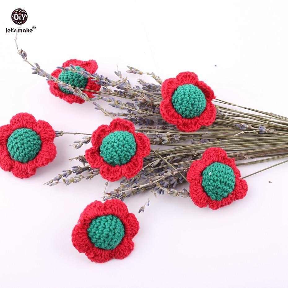 Faisons 300 pc Crochet fleur perles de qualité alimentaire dentition bijoux à bricoler soi-même peut à croquer jouets bébé cadeaux bébé dentition accessoires 40mm