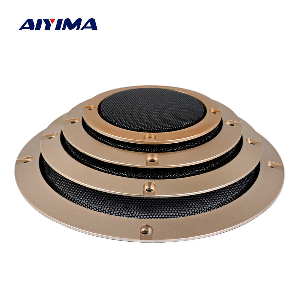AIYIMA 2Pcs Audio Speakers Cover 3/4/5/6.5 Inch Protective Mesh Net Grilles DIY Car Speaker Parts Column Accessories