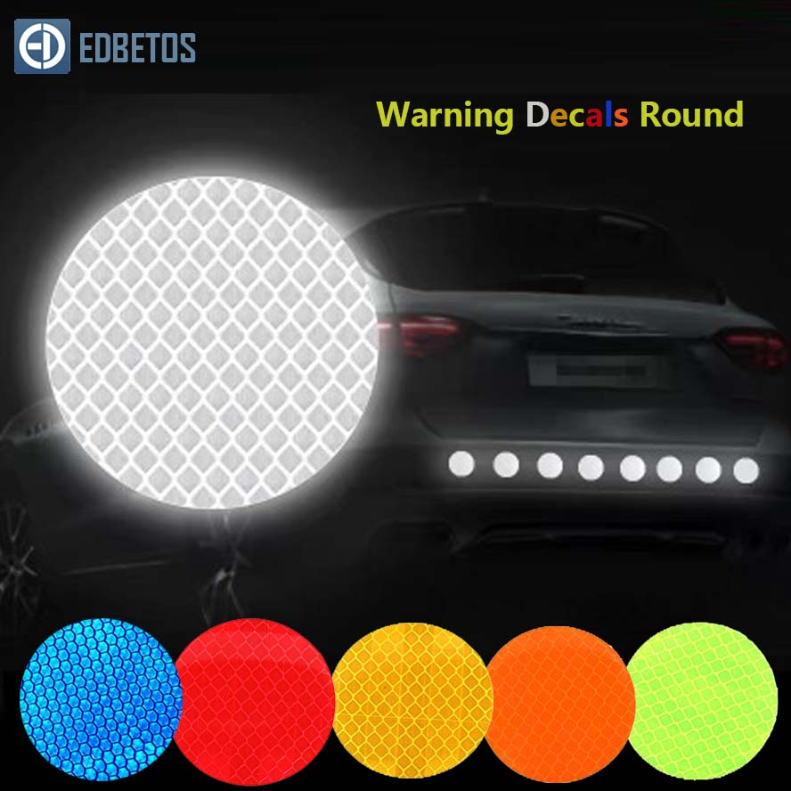 Car Sticker Round 3M Diamond Reflective Tape Safety Warning Mark Decal Notice Bicycle Pegatinas Automovil Coche Araba Aksesuar