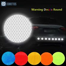 Auto Sticker Ronde 3M Diamant Reflecterende Tape Veiligheid Waarschuwing Mark Decal Opmerking Fiets Pegatinas Automovil Coche Araba Aksesuar(China)