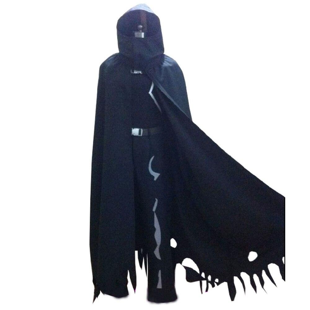 2017 Sword Art Gun Gale Online Death Gun Sterben Cosplay Costume Coat Mantle Cosplay Black Cloak