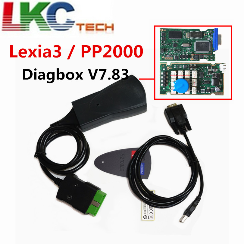 Professionelle Lexia3 PP2000 Lite Diagbox V7.83 PSA XS Evolution Für Ci-troen/Für Pe-pe-ugeot LEXIA-3 FW 921815C Lexia 3