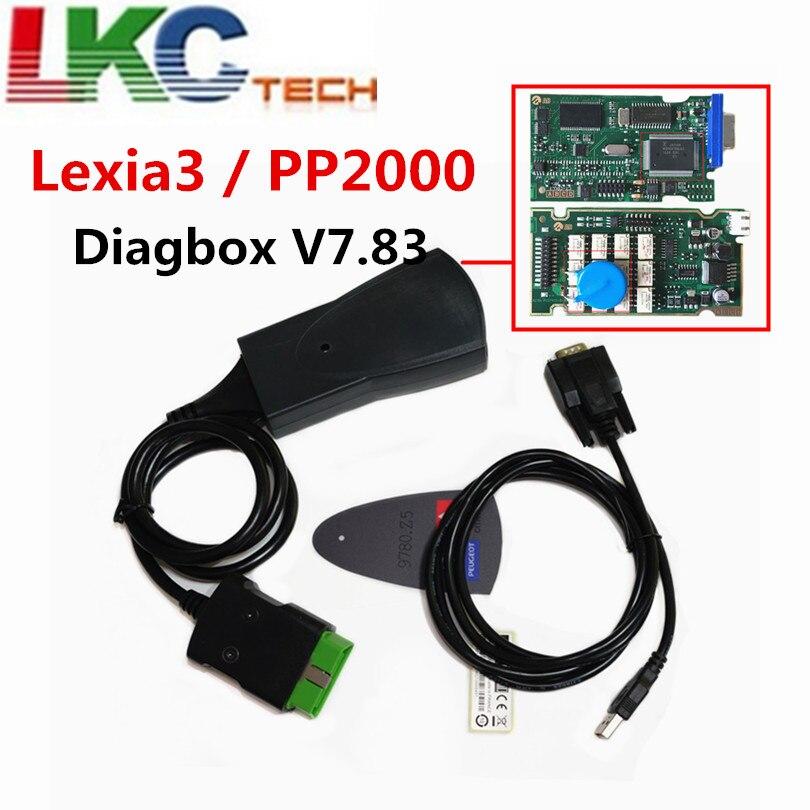 Professionnel Lexia3 PP2000 Lite Diagbox V7.83 PSA XS Evolution Pour Ci-troen/Pour Pe-ugeot LEXIA-3 FW 921815C Lexia 3