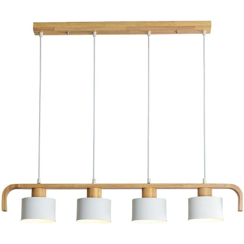 BOTIMI современный светодиодный подвесной светильник с металлическим абажуром для столовой деревянный подвесной светильник E27 деревянный кухонный светильник - 6