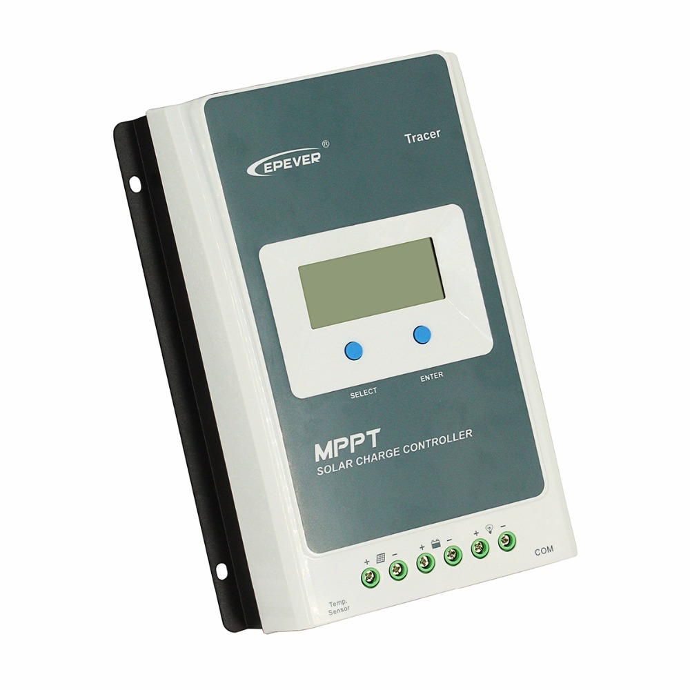 MPPT EPever Solar Charge Controller 40A 30A 20A 10A Tracer AN Series Back-light LCD Regulator for Lead-acid Lithium-ion Battery
