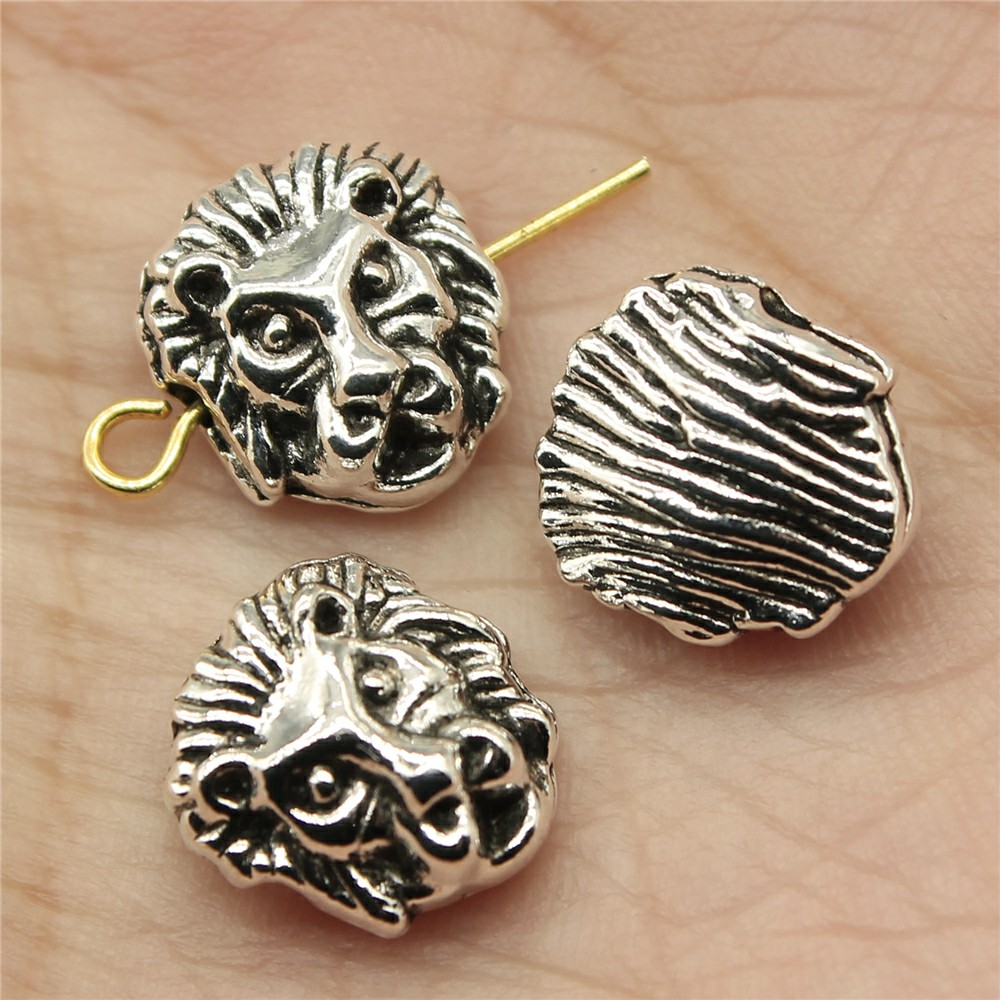 WYSIWYG 8pcs 12*11*6mm Lion Small hole Spacers Beads Pendants Charms Findings Jewellery Making Findings for DIY Craft