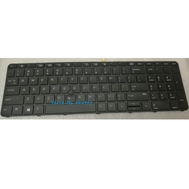 חדש עבור HP ProBook 450 455 470 G3 G4 מקלדת עם מסגרת 827029-001 837551-001 w/ עם תאורה אחורית