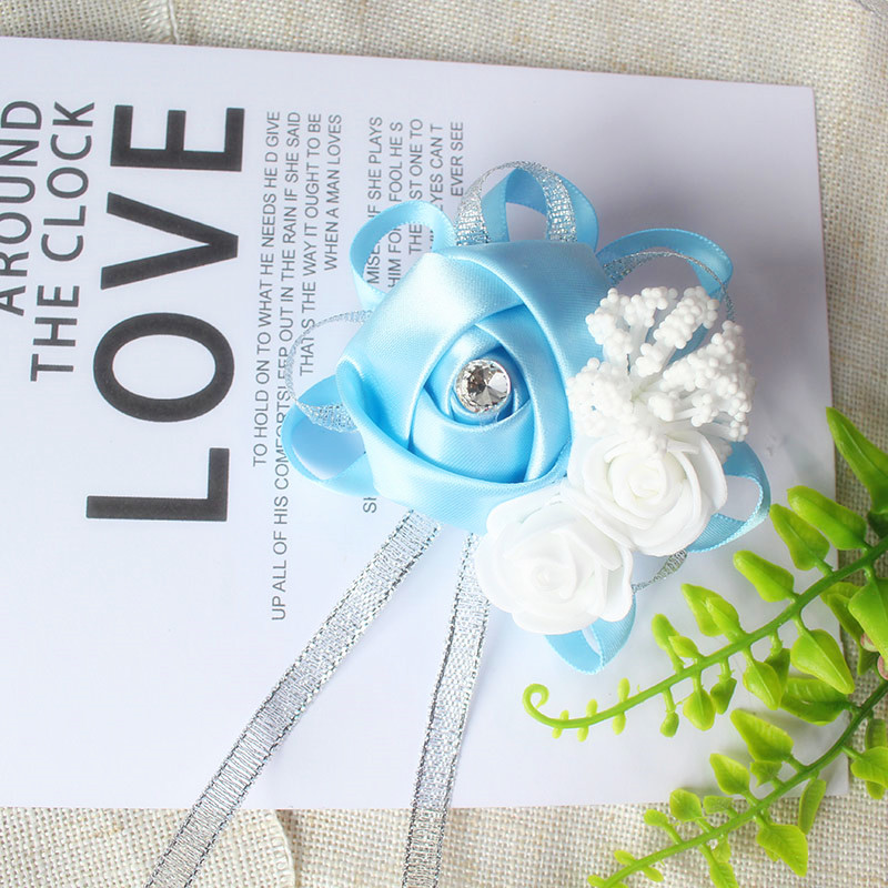 wrist corsage bracelet bridal wedding flowers Bridesmaid (115)