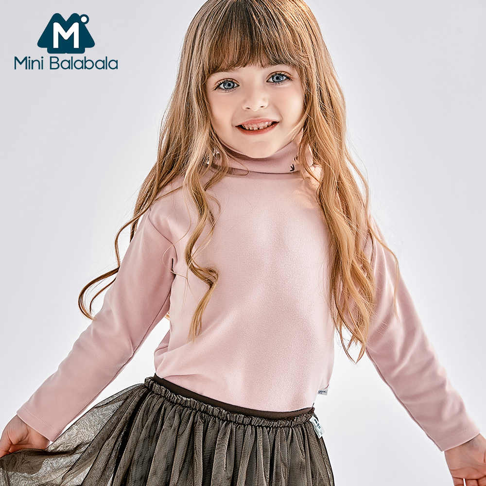 Мини-детская водолазка, футболка с длинным рукавом, футболка унисекс, детская зимняя термомайка для мальчиков и девочек, футболки для детей